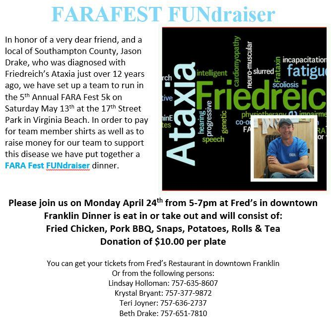 Team Jason Fundraiser flyer 2017