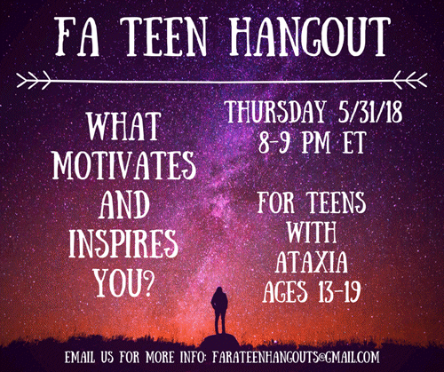 FA Teen hangout May 2018
