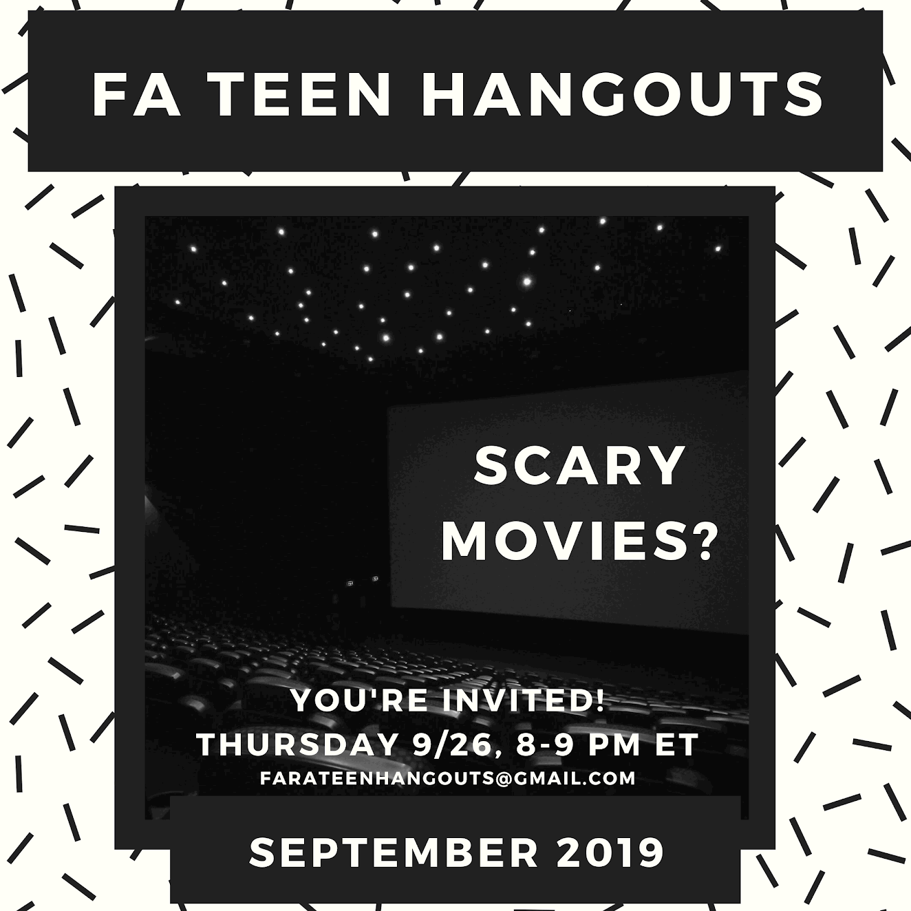 September Teen Hangout