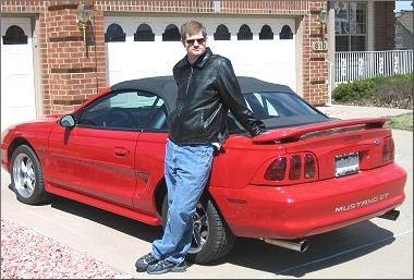 Eric and his Mustang